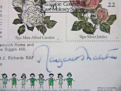 UK First day Cover-1991- Signed / Autographed  by Margaret Thatcher-- Iron Lady