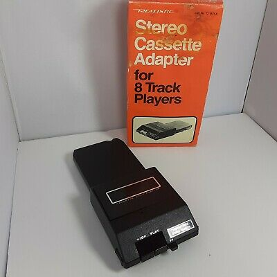 Realistic 12-1875 Stereo Cassette Adapter for 8 Track Players Barely Used In Box
