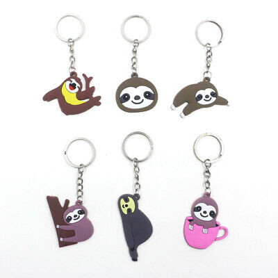 Cute Cartoon Animal Sloth Car Keychain Women Backpack Decoration Children F016