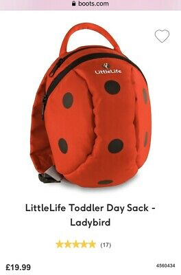 LittleLife Ladybird Toddler Backpack with Rein and Rain Cover