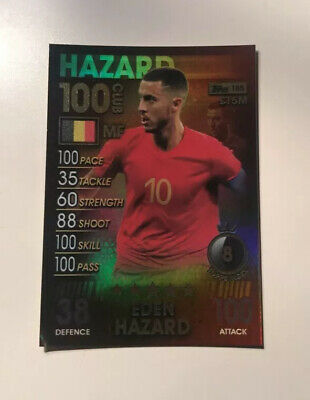 Eden Hazard 100 Hundred Club Topps Match Attax 101 Card