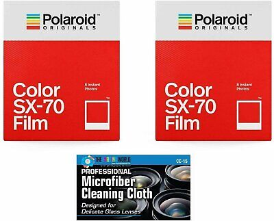 Impossible/Polaroid PRD4512 Color Instant Film for Polaroid SX70 Camera - 2 Pack