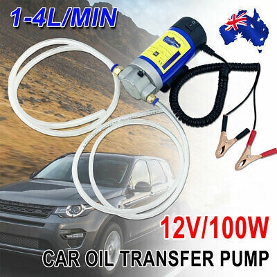 DC 12V 100W Car Engine Oil Pump Transfer Extractor Fluid Diesel Electric Siphon