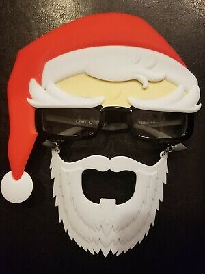 Costume Sunglasses Santa Claus Readers with Beard Sun-Staches Party Favors