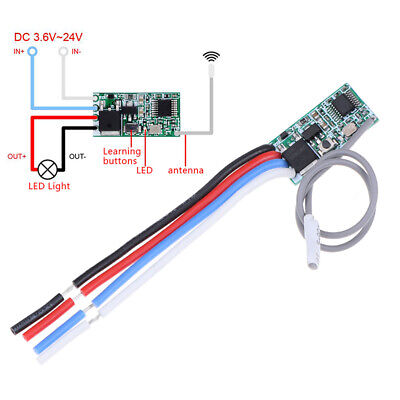 433Mhz 1CH RF Relay Receiver Wireless Remote Control Light Switch Micro Module