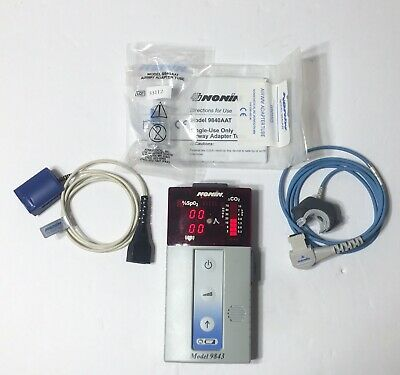 Nonin Handheld CO2 And Pulse Oximetry Monitor Model - 9843