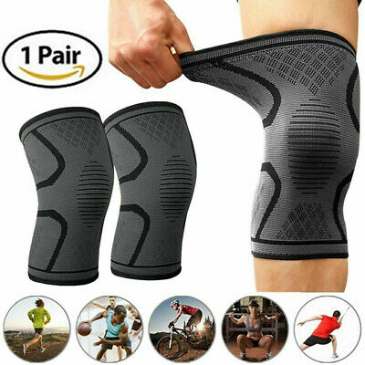 2Pcs Knee Sleeve Compression Brace Support For Sport Joint Pain Arthritis Rel`