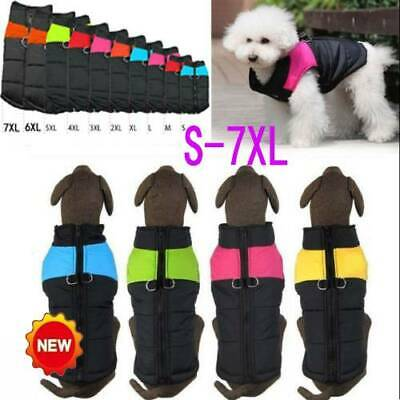 Muti-size Waterproof Pet Dog Clothes Winter Warm Padded Coat Vest Jacket Skiwear