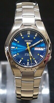 SNK615K1 SEIKO 5 Stainless Steel Band Automatic Men's Blue Watch Original New