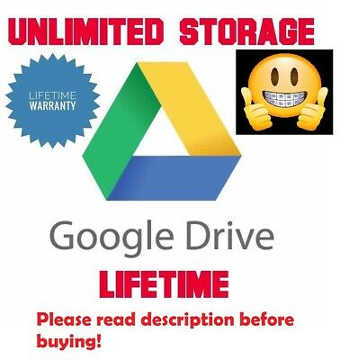 Unlimited Google Drive Storage (For Your Existing Gmail or G Suite) (5 Team!)