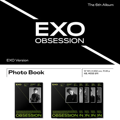 EXO 6th Album [OBSESSION] Official Photo Book (EXO Ver.)