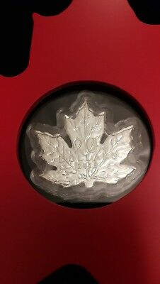 2015 The Canadian Maple Leaf Shaped Prf $20 Silver Coin 1oz .9999 Fine