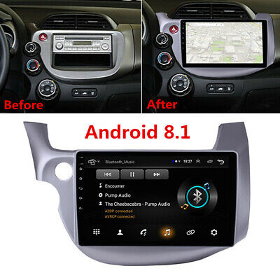 "Grau 10.1"" Android 8.1 Radio Stereo MP5 GPS Navigation for 2007-2013 Honda Fit"