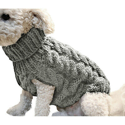 Popular Knitted Puppy Dog Jumper Sweater Pet Clothes For Small Dogs Cat Coat HD3