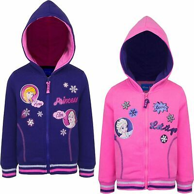 Childrens Kids Girls Pink Disney Frozen II Anna Elsa Hoodie Age 4-8 years