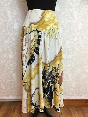 "Stunning And Unique ""Casablanca"" Vintage 90s Silk Skirt, Beautiful! 12-14"