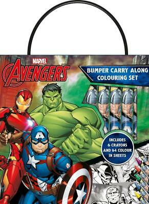 Avengers Bumper Carry Along Colouring Set Crayons Travel Activity Kids