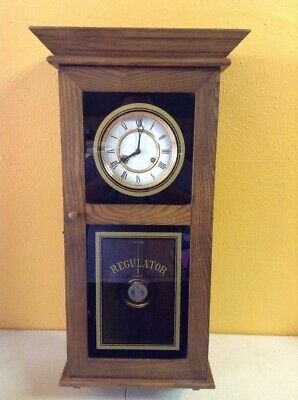Vintage Large Franz HERMLE West Germany Wind Up Wall Wood Regulator Clock