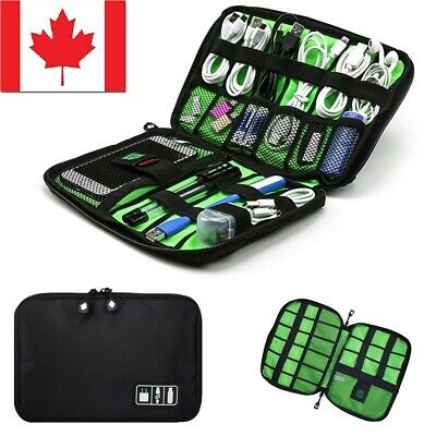 NEW Electronic Accessories Cable USB Drive Organizer Bag Travel Insert Case CA