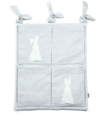 NEW Mamas and Papas Boys Welcome to World Bunny Nursery Cot Tidy