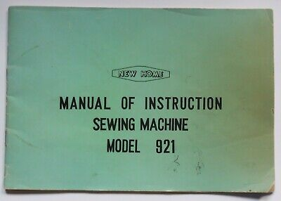 Original Janome New Home 921 Sewing Machine Instruction Manual Booklet