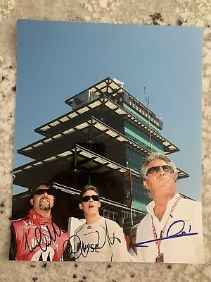 Michael Marco Mario Andretti Family Signed 8x10 Photo Autograph Indianapolis 500
