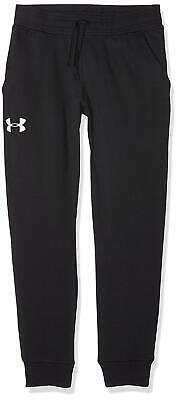 Under Armour UA French Terry Youth Boy's Joggers Sweatpants Youth Medium Black