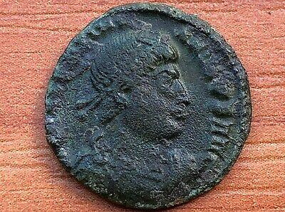 Valentinian I 364-375 AD AE Follis Victory Thessalonica mint Ancient Roman Coin