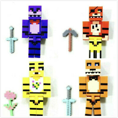 Minecraft Toy Figures 4pcs/set Five Nights At Freddys ** UK SELLER**