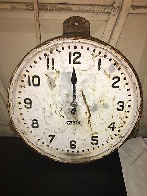 White Cast Iron Gents Of Leicester Industrial Railway Station Factory Wall Clock