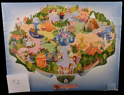 DLR Disneyland Attractions Pin Map with 9 Pins GWP 2000 Limited Edition 5000 New