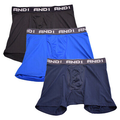 AND1 Men's 3 Pack Performance Boxer Briefs (S08)