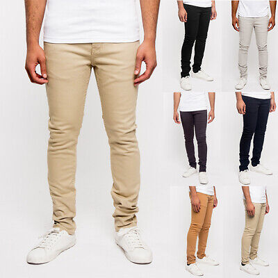 Victorious Men's Super Skinny Fit Stretch Colored Denim Jeans Pants      DL1001