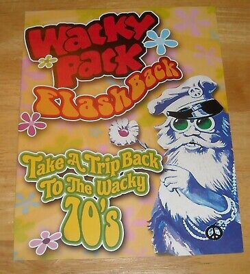 """WACKY PACK FLASHBACK trading card Advertising POSTER 2007 TOPPS 11 x 17"""""""