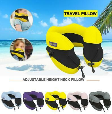 Travel Pillow Best Pure Memory Foam Neck Support for Sleeping Rest Airplane