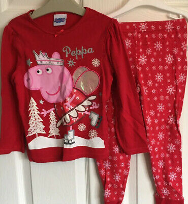 Girls Age 3-4 Years Peppa Pig Christmas Pyjamas