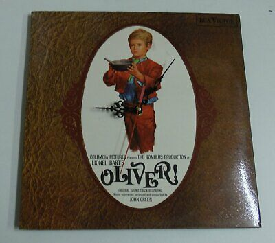 LP Sleeve Clock Oliver The Musical Retro Chic Upcycled Picture Ideal Xmas Gift
