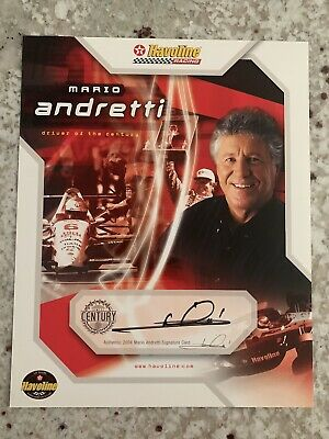 Mario Andretti Signed 8x10 Promo Photo Autographed