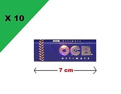OCB courte simple ultimate lot de 10 carnets de feuille a rouler