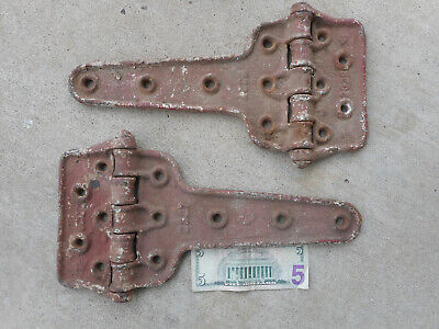 Antique Castle Cast Iron Door Hinges