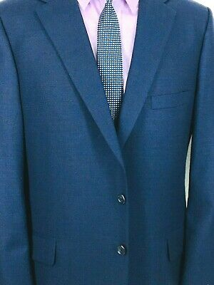 42* Tom James Holland & Sherry Canvassed Mens 2 Bttn Wool Blazer Navy Blue Mint!