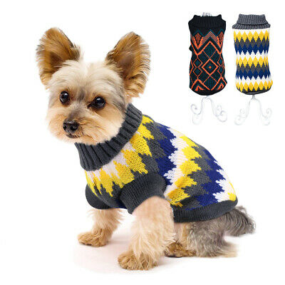 Warm Dog Sweaters Soft Knitted Puppy Winter Clothes Jumper for Small Medium Dogs