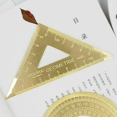Brass Lsosceles Triangle Ruler Painting Drawing Measuring Tool Cartography Math