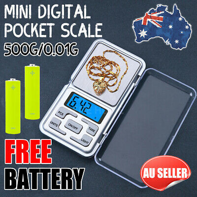 500g 0.01g DIGITAL POCKET SCALES JEWELLERY PRECISION ELECTRONIC WEIGHT LAB