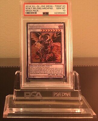 2016 Psa 10 Yugioh Mega Tin Secret Rare Scarlight Red Dragon Archfiend 💎 🔥
