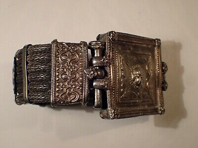 Antique Tribal Ethnic Vintage Knitted Silver Bracelet  153 g