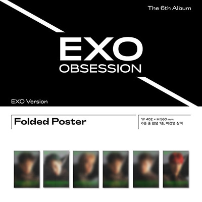 EXO 6th Album [OBSESSION] Official Folded Poster (EXO Ver.)