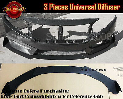 "Pair 8.25/"" x 4/"" Front Bumper Lip Splitters Black Winglet Blade Canard For  Ford"