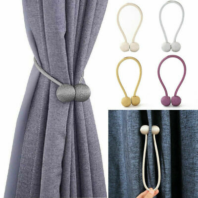 Ball Hooks Magnetic Curtain Rope Buckle Tie Backs Holdbacks for Home Decorative
