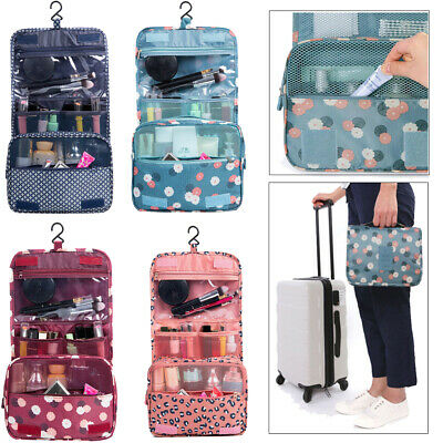 Folding Travel Cosmetic Storage MakeUp Bag Hanging Organizer Pouch Toiletry